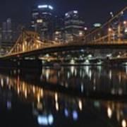 Bridge In The Heart Of Pittsburgh Art Print