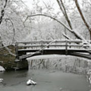 Bridge In Winter Art Print