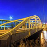 Bridge Meridian Sault Ste. Marie, Michigan -6792 Art Print