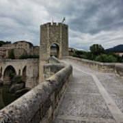 Bridge Of Besalu, Girona Provence, Catalonia, Spain-2 Art Print