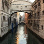 Bridge Of Sighs In Venice In Morning Light Art Print