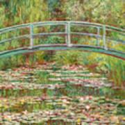 Bridge Over A Pond Of Water Lilies Art Print