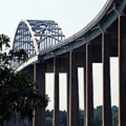 Bridge Over Delaware Chesapeake Canal Art Print