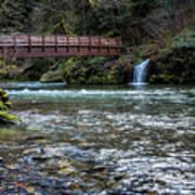 Bridge Over Hackleman Creek Art Print