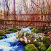 Bridge Over Mill Creek Art Print