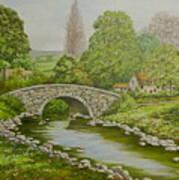 Bridge Over Stream Art Print
