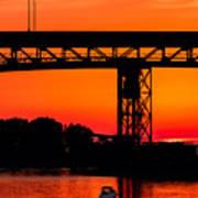 Bridge Over Sunset Art Print