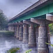 Bridge Over The Delaware River Art Print