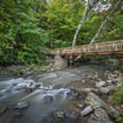 Bridge Over The Pike River Art Print