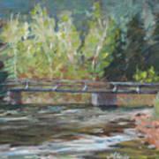 Bridge Over The Poudre Art Print