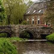 Bridge Over The River Clun Art Print