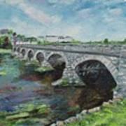 Bridge Over The River Laune, Killorglin Ireland Art Print
