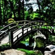 Bridge Over The Stream Art Print