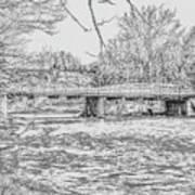 Bridge Over The Vermilion Art Print