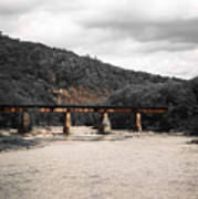 Bridge Over The Winooski Art Print
