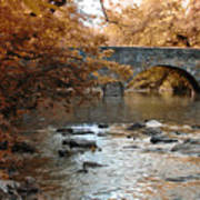 Bridge Over The Wissahickon At Valley Green Art Print
