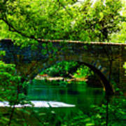 Bridge Over The Wissahickon Art Print by Bill Cannon