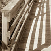 Bridge Railing Art Print