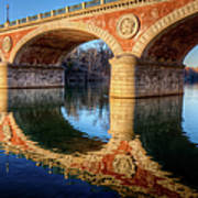 Bridge Reflection On River Art Print by Andrea Mucelli