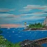 Bridge Scene Art Print