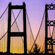 Bridge Sunset Art Print