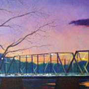 Bridge Sunset Art Print