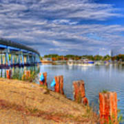 Bridge To Cobb Island Art Print