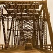 Bridge To Savannah Art Print
