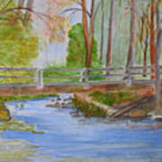 Bridge To Serenity   Smithgall Woods State Park Art Print
