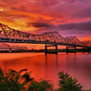 Bridges At Sunrise Art Print by Steven Ainsworth