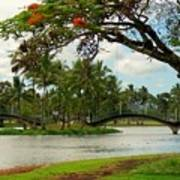 Bridges At Wailoa Art Print