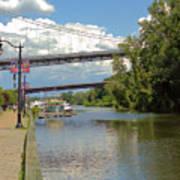 Bridges Spanning The Rondout Art Print