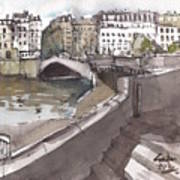 Bridging The Seine Art Print