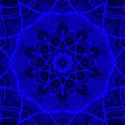 Brigadoon No. 1 Neon Blue Art Print