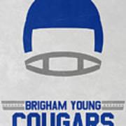 Brigham Young Cougars Vintage Football Art Art Print