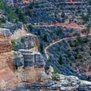 Bright Angel Trail @ Grand Canyon Art Print