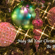 Bright Christmas Card Art Print