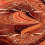 Bright Fantasies Of Delightful Orange Art Print