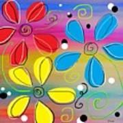 Bright Flowers Intertwined Art Print