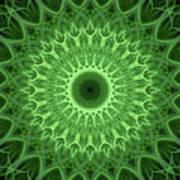 Bright Green Mandala Art Print