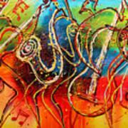Bright Jazz Art Print