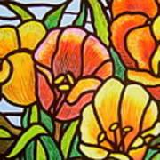 Bright Tulips Art Print
