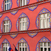 Brightly Colored Facade Vurnik House Or Cooperative Business Ban Art Print