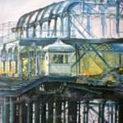 Brighton's West Pier-lone Survivor Art Print