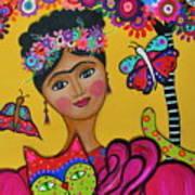 Brigit's Frida And Cat Art Print
