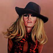 Brigitte Bardot Painting 1 Art Print
