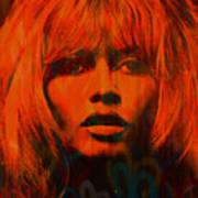 Brigitte Bardot Love Pop Art Art Print