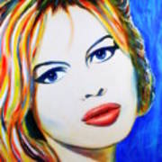 Brigitte Bardot Pop Art Portrait Art Print