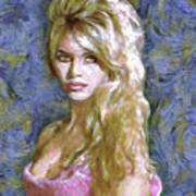 Brigitte Bardot Van Gogh Style Art Print
