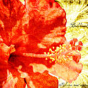 Brilliant Hibiscus Art Print